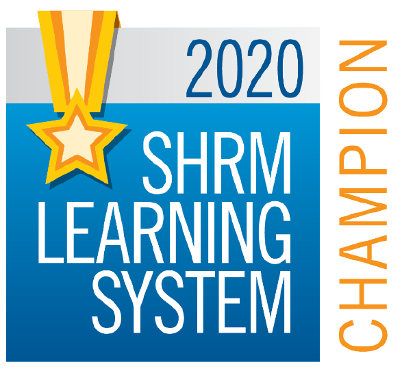 2020 SHRM Learning System Champion award